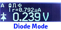 Diode mode on LCR-Reader-MPA